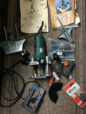 Bosch Plunge Router Pof 52 Woodwork Tool + Accessories + Cutters Good Condition