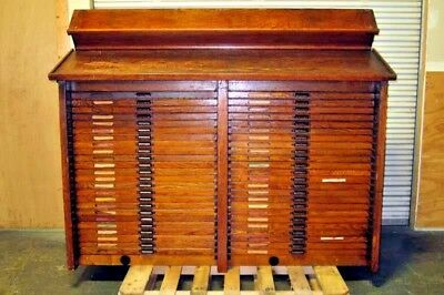 Hamilton printer's type Case  Cabinet 48 drawer 19th centery