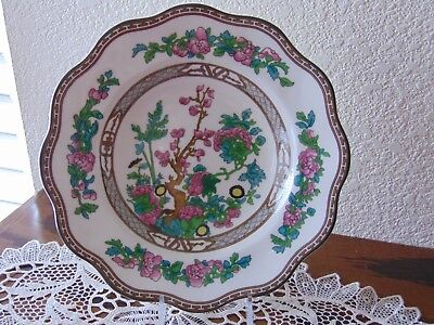 Coalport Indian Tree Multicolor Scalloped Edge Soup Plate Bowl/Made in England