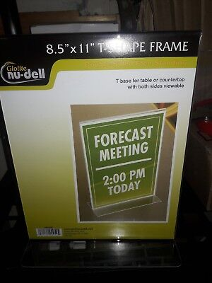 Nu-dell Clear Plastic Sign Holder, Stand-Up, 8 1/2 x 11 (NUD38020Z)