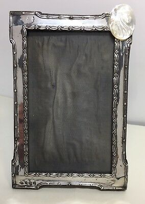 Solid Silver Photo Frame 1924 Mother Of Pearl Carved Girl Detail Wj Myatt