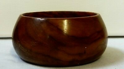 Vintage Small Treen  Bowl, With Beautiful Natural Wood Grain, Vgc