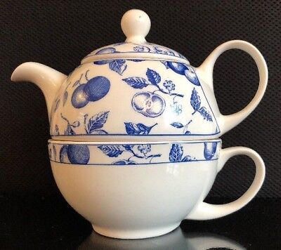 Arthur Wood: Blue Traditional Floral Tea For One: Teapot & Cup