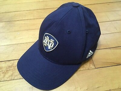 6ac8a388314 NCAA Notre Dame Adidas Cap Hat Youth Adjustable 100% Cotton Fighting Irish
