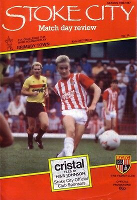STOKE v GRIMSBY 1986/87 FA CUP 3RD ROUND REPLAY