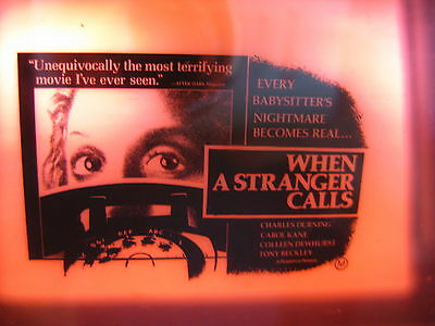 WHEN A STRANGER CALLS 1979 Original cinema movie projector glass slide horror