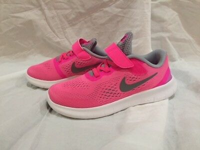 Nike Free RN (PSV) 833995-600 Pink Blast White Silver Youth NO BOX