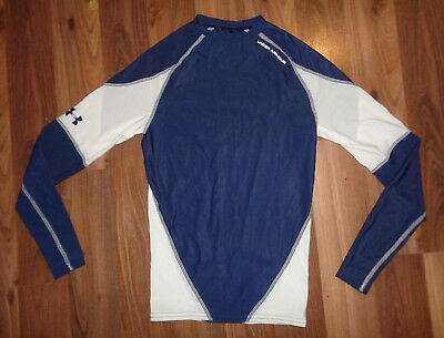 Under Armour Womens S Small  Long Sleeve Compression Running Shirt Blue VGUC