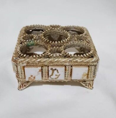 vintage Florenza lipstick holder with tiny enameled  tiles super cute!