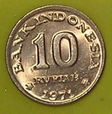 1-Coin from Indonesia.  10-Rupiah.  1971.