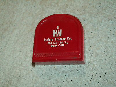 CA IH Tractor Adv Red Plastic Tape Measure Helms Tractor Co Tracy California CA