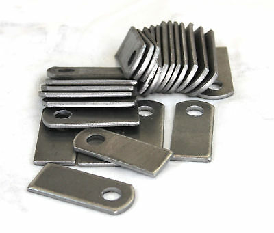 "Weld tabs on Steel Brackets 1"" x 2 3/8"" x 1/8"" Lot of 25 Brackets"