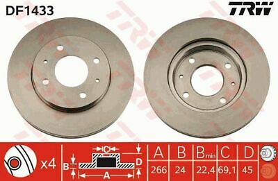 Land Rover Discovery 3 2.7 TDV6 4x4 187bhp Front Brake Pads Discs 317mm Vented