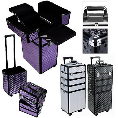 3 In 1 Trolley Tool Box Set 4 Drawers Boxes Storage