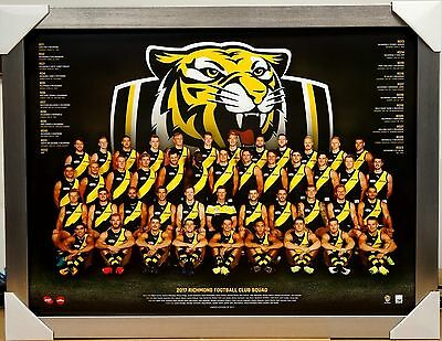 Richmond 2017 Afl Team Print Poster Framed - Dustin Martin, Riewoldt