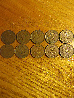 1940 1941 1942 1943 1944 1945 1946 1947 1948 1949 Canada Cent One Each