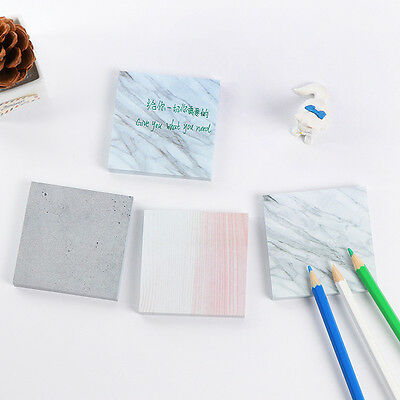 Stone Pattern Marble DIY.Scrapbooking Paper 3 Colour Memo Sticker Sticky Note~