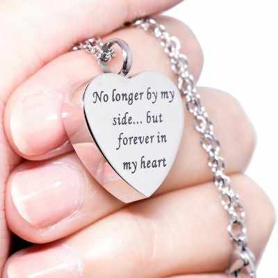 No Longer By My Side but FOREVER in My HEART CREMATION JEWELRY URN NECKLACE Urns