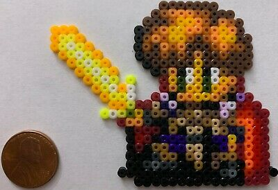 Alex Noa Dragonmaster Mini Bead Sprite Perler Hama Artkal Pixel Art Icon Retro