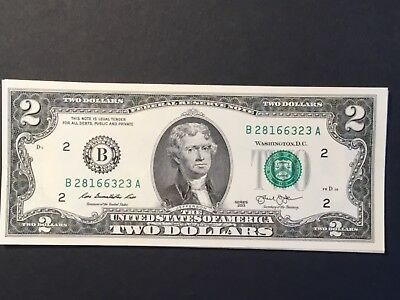 2013 US Two dollar note