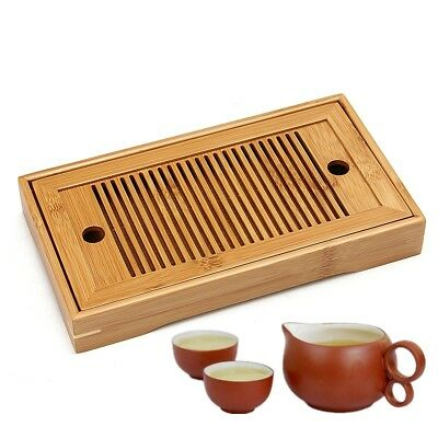 Wooden Bamboo Folding Chinese Gongfu Tea Coffee Table Tasteful Serving Tray AU