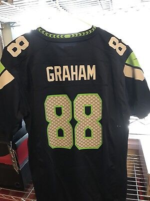 Cheap NIKE SEATTLE SEAHAWKS #88 Jimmy Graham NFL Jersey Navy YOUTH Size  for sale