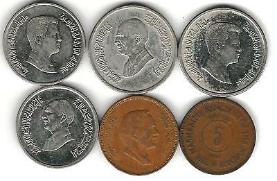 6 different world coins from JORDAN