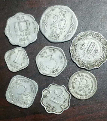 8 Different Rare India Coins  -#1112-  Free Shipping