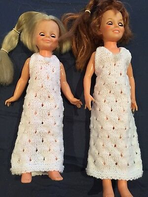 Hand Knitted Dolls Clothes For Crissy And Velvet Doll.