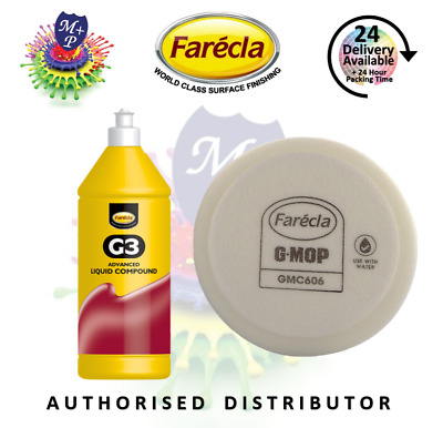 "Farecla G3 Advanced Liquid Rubbing Abrasive Polish 500ml + GMC606 6"" Foam Pad"