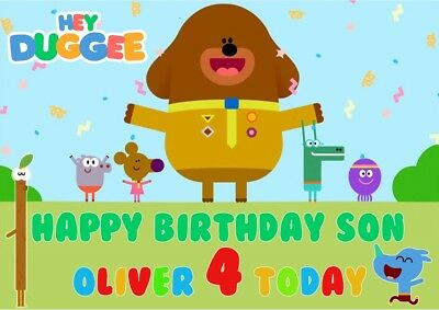 Personalised Birthday Card Hey Duggee Any Name Age