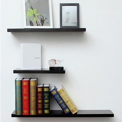 3 Pcs High Gloss Floating Wall Mounted Display Shelf Bookshelf Storage Holder