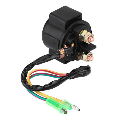 Motorcycle ATV  Black Starter Relay Solenoid for Honda TRX250X Kawasaki KZ200 EL