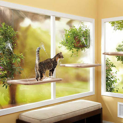 55x32cm cat Window Mounted bed Cat Seat Pets Sunny Hammock Beds Cover Washable