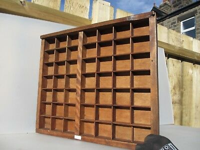 Victorian Wooden Printers Drawer Tray Wall Display Rack Letterpress Old Antique