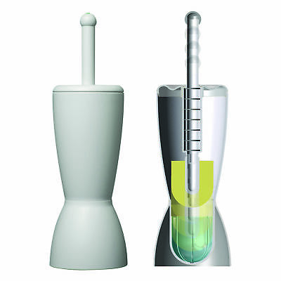 "Dip-San ""The Hygienic Toilet Brush"" and Holder Bathroom Cleaning Free Standing"