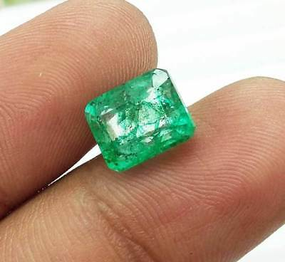 BELLISSIMO SMERALDO COLOMBIA 3,80 cts CERTIFICATO Certified Colombian Emerald