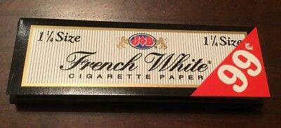 Job French White Lights 48 Packs/24 Per Pack)Box Rolling Papers 1 1/4*1.25