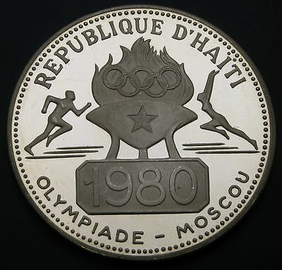 HAITI 50 Gourdes 1977 Proof - Silver - 1980 Moscow Olympics - 852