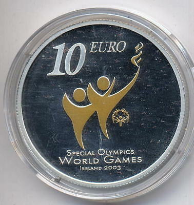 Irland 10 Euro Special Olympics 2003 PP teilvergoldet