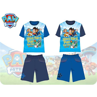 Completo T-Shirt + Short  Paw Patrol 7 Anni Blu Scuro