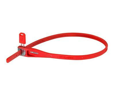 HIPLOK Z-Lok Reusable ZipTie Lock/Lockable Bicicleta,Luggage Tie Wrap Pk 2 Red
