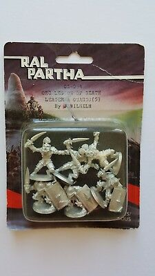Ral Partha Orc Legion Of Death Leader & Guards (5) 02-084 Factory Seal Master