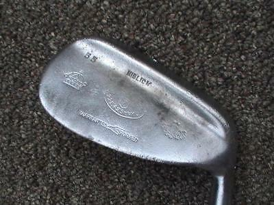 Antique Vintage Flange Sole Niblick Wood Shafted Golf Club Sw D5 56* Loft Player
