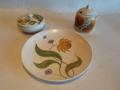 TRIO of Early to Mid-Century Radford Pottery - Hand Painted in VGC