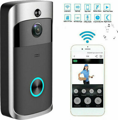 Wireless Door Bell Wifi Camera Intercom HD Night Vision Security Ring iSmartBell