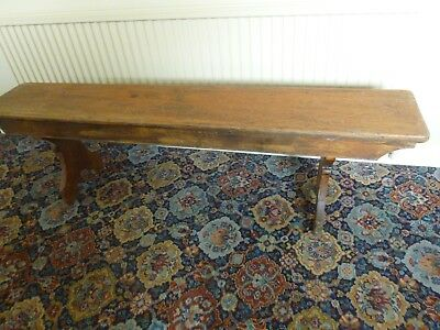 Large Old Vintage Solid Pine Wood School Bench Wooden Kitchen Bench 152X28X44Cm