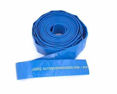 Blue Layflat Pipes - PVC Water Delivery Hose Discharge Pump Lay Flat Irrigation