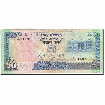 [#269954] Banknote, Mauritius, 50 Rupees, 1985-1991, Undated (1986), KM:37a