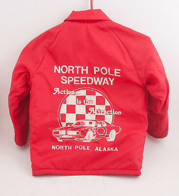 King Louie Pro Fit Small 6 8 Child's Red Jacket North Pole Speedway Alaska (H4R)